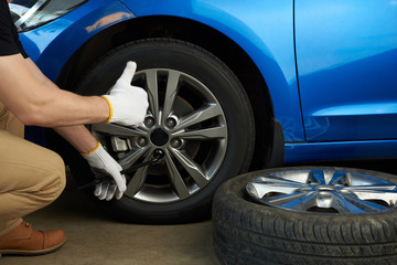 Wheel change service