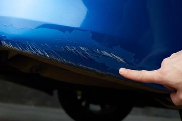 Car paint scratch damage