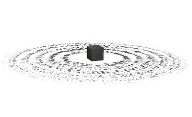 Holy Kaaba in Mecca. Hajj and umrah. Abstract illustration. Vector