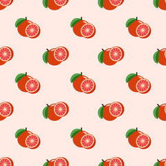 Seamless background image colorful tropical fruit red grapefruit