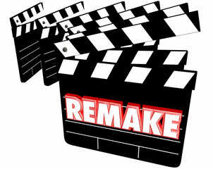 Remake Movie Film Clappers 3d Illustration