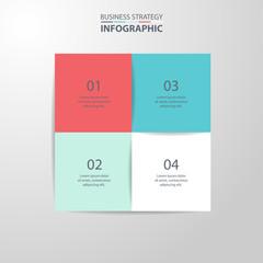 Basic Business Infographics design template illustration