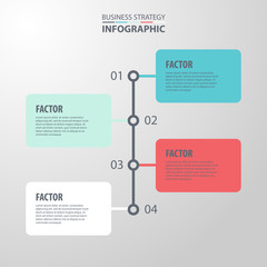 Basic Business Infographics design template illustration