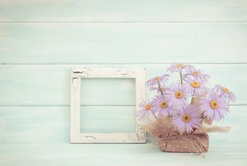 Chamomile and photo frame