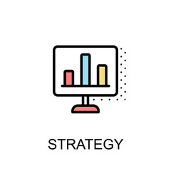 Strategy icon isolated background with illustration design.vector