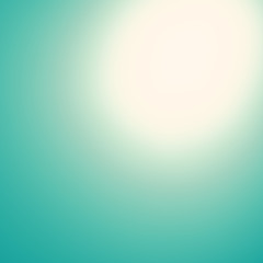 Turquoise green abstract background with radial gradient effect