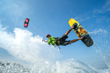 Kite surfing.