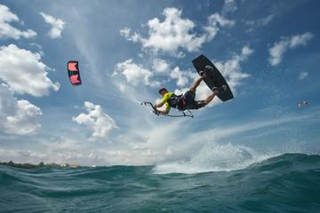 Foto op Aluminium Luchtsport Kite surfing.