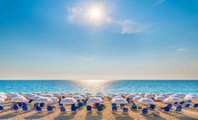Wall Mural - Kathisma beach on the Ionian sea, Lefkada island, Greece.