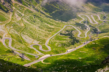 transfagarasan route view from above
