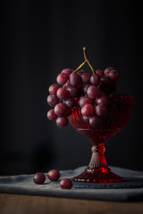 Moody food grapes