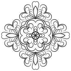 Black symmetrical element