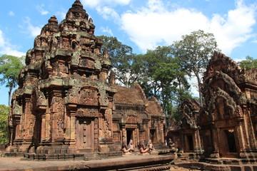 Cambodia . Banteay Srei Temple .Siem Reap Province . Siem Reap City .