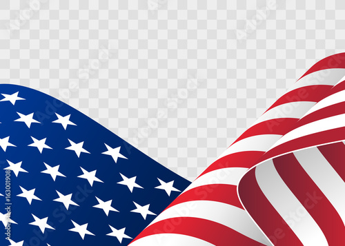 e1bd61da3127 waving flag of the United States of America. illustration of wavy American  Flag for Independence