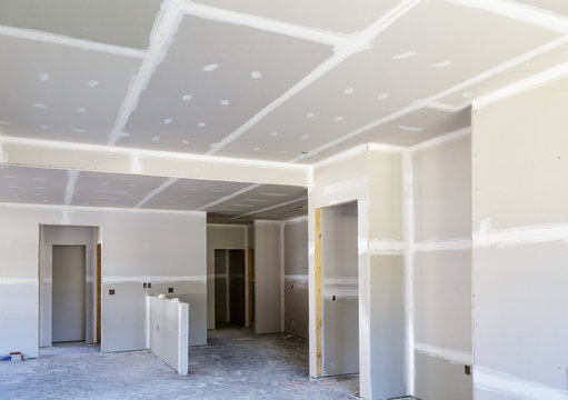 Finished Sheetrock in New Home