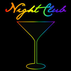 Gay night club background