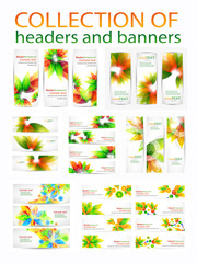 Collection of abstract vector eps10 headers and  banners with place for your text