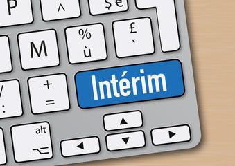 intérim - travail - entreprise - mot - emploi - internet - flexibilité - clavier d'ordinateur