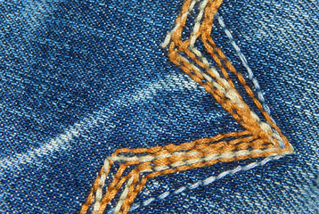 closeup of Jeans Trouser stitch for use as background or element