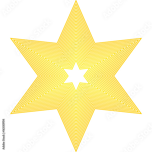 Star Icon Golden Star On Blank Background Stock Image And Royalty