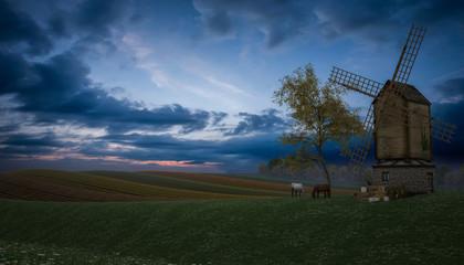 Nightfall over Fields