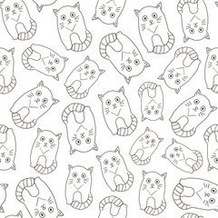 Seamless pattern from the cats.