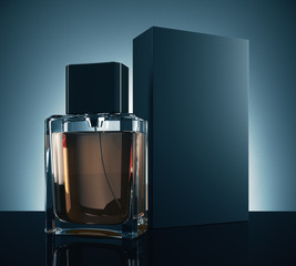 Male perfume advertising concept