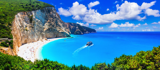 Most beautiful beaches of Greece series - Porto Katsiki in Lefkada, Ionian islands