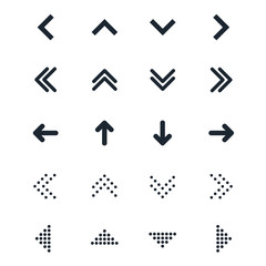 Vector set of different black Arrows icon