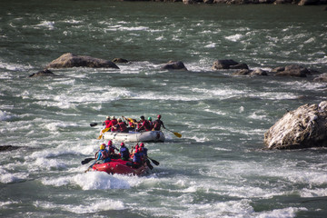in the rapids of the Ganges