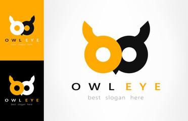 Foto op Textielframe Uilen cartoon owl logo