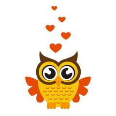 cartoon owl with heart