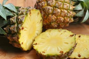 fresh slice of pineapple