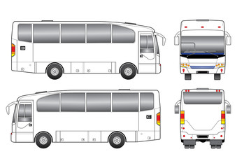 White tour bus