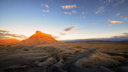 Factory butte at sunrise, Caineville, UT