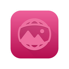 Matte Long Shadow App-Icon