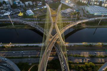Top view of Marginal Pinheiros, Sao Paulo, Brazil