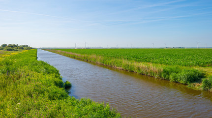Poster Channel Canal in a rural landscape in summer