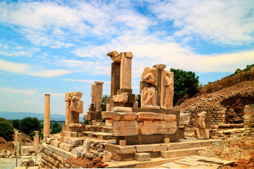 Monument to Memmio at the archaeological site of Ephesus in Turkey.