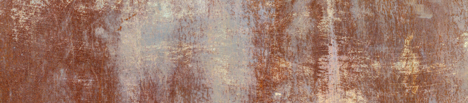 The Texture Of The Old Rusty Metal Plate. HD Panorama.