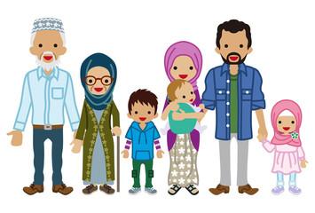 Multi-Generation family - Muslim