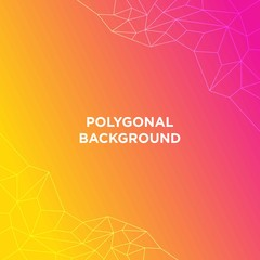 Polygonal background color vector illustration