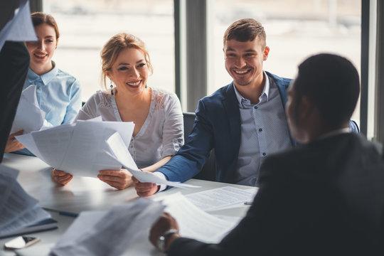 Business People Collaboration Teamwork Union Concept