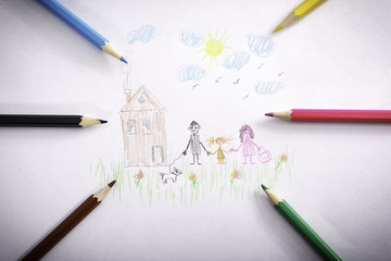 Drawing pencils family
