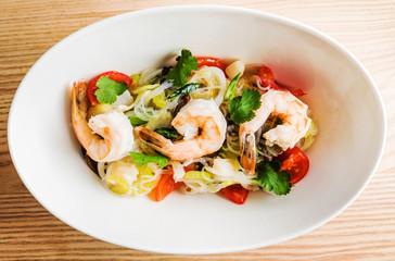 noodle with shrimps