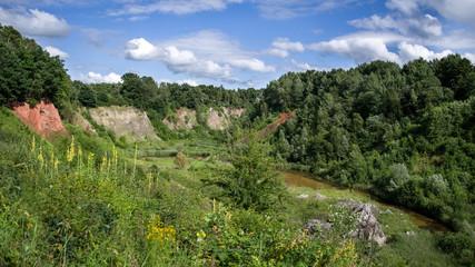 Panorama Liether Kalkgrube im Sommer