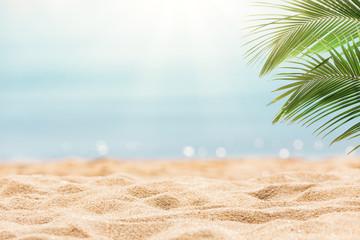 Foto op Canvas Tropical strand Tropical beach background