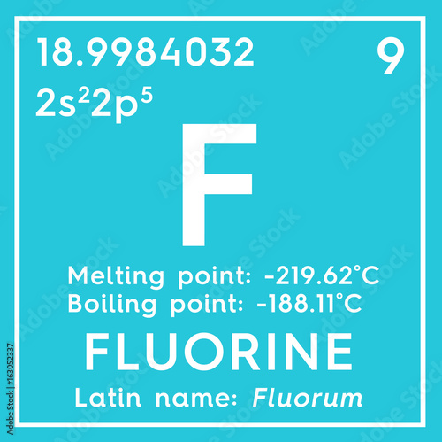 Fluorine Halogens Chemical Element Of Mendeleevs Periodic Table
