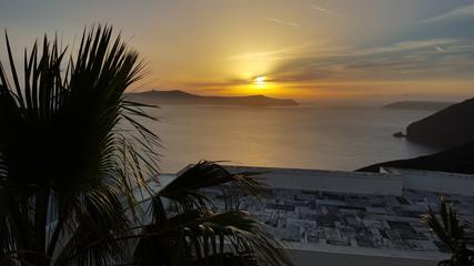 Sunset, Fira, Santorini, Greece
