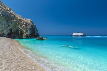 Wall Mural - Egremni beach on the Ionian sea, Lefkada island, Greece.